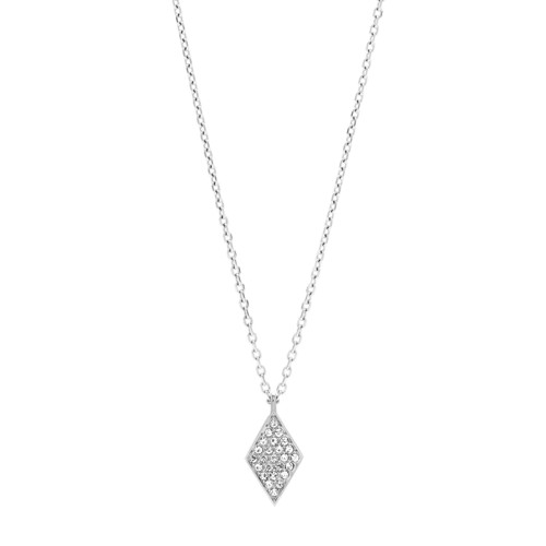 fossil Diamond Stainless Steel Necklace JOF00424040