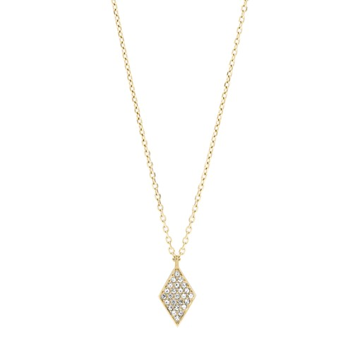 fossil Diamond Gold-Tone Stainless Steel Necklace JOF00425710