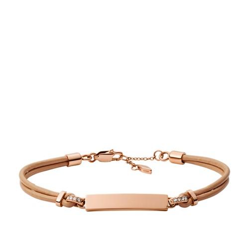 fossil Bar Nude Leather Bracelet JOF00433791