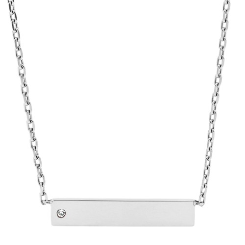 fossil Bar Stainless Steel Necklace JOF00434040