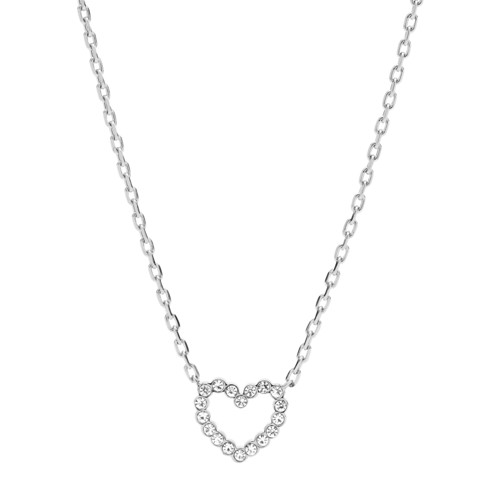 fossil Open Heart Stainless Steel Necklace JOF00464040