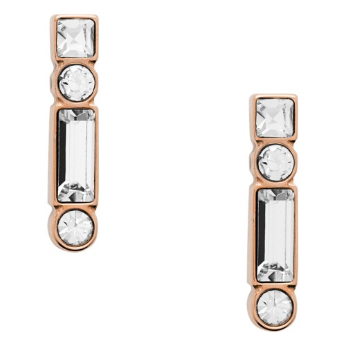 fossil Heritage Shapes Rose Gold-Tone Stainless Steel Earrings JOF00474791