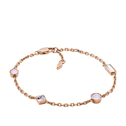 b5b12d397 fossil Heritage Shapes Rose Gold-Tone Stainless Steel Bracelet JOF00479791