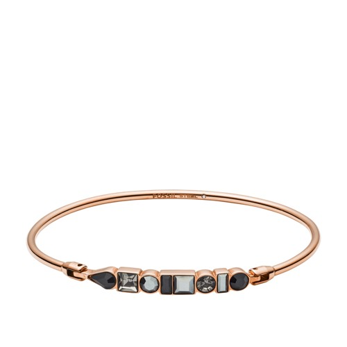 fossil Heritage Shapes Rose Gold-Tone Stainless Steel Bangle JOF00483791