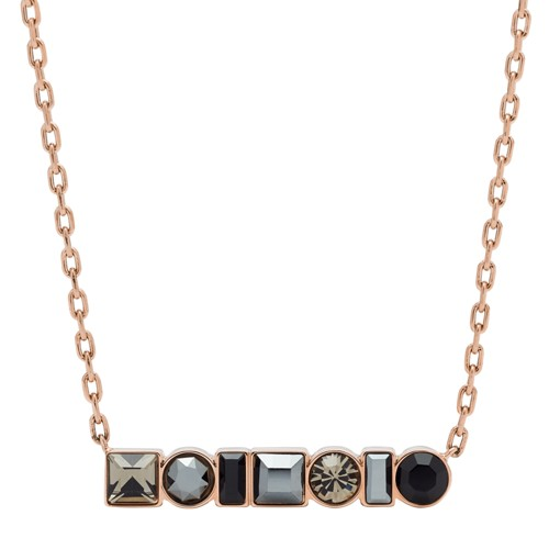 fossil Heritage Shapes Rose Gold-Tone Stainless Steel Necklace JOF00485791