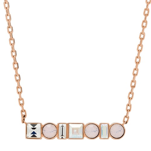 fossil Heritage Shapes Rose Gold-Tone Stainless Steel Necklace JOF00486791