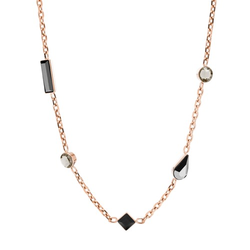 fossil Heritage Shapes Rose Gold-Tone Stainless Steel Necklace JOF00487791