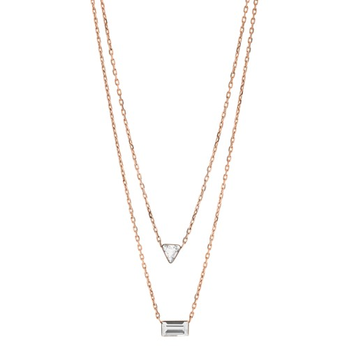 fossil Heritage Shapes Rose Gold-Tone Stainless Steel Convertible Necklace JOF00488791