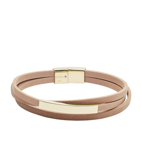 Triple-Strand Nude Leather Bracelet JOF00513710