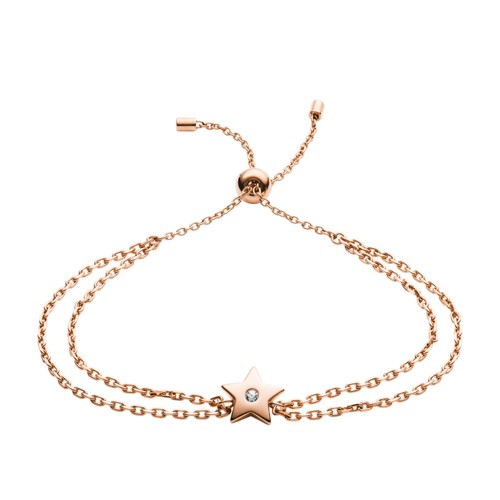 fossil Star Rose Gold-Tone Stainless Steel Bracelet JOF00515791