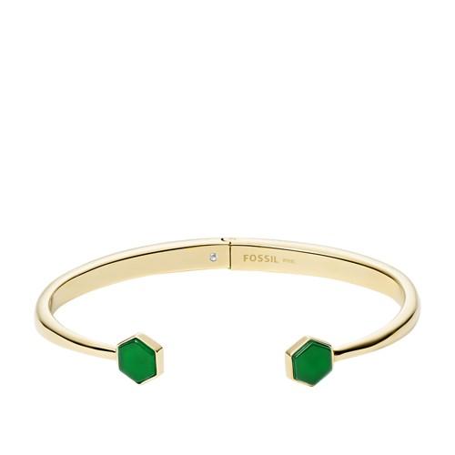 fossil Gold-Tone Stainless Steel Cuff Bracelet JOF00551710