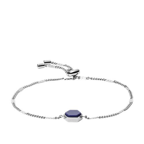 fossil Silver-Tone Stainless Steel Bracelet JOF00556040