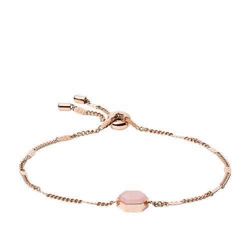 fossil Rose Gold-Tone Stainless Steel Bracelet JOF00557791