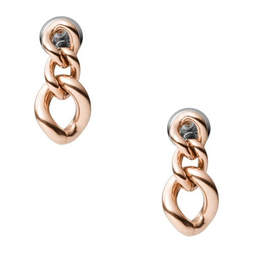 Rose Gold-Tone Stainless Steel Drop Earrings JOF00577791