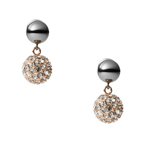 Gunmetal Stainless Steel Drop Earrings JOF00578998