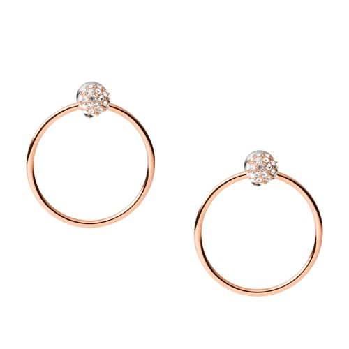 Rose Gold-Tone Stainless Steel Drop Earrings JOF00582791