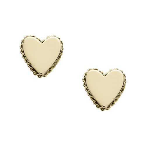 Fossil Gold-Tone Stainless Steel Stud Earrings  jewelry GOLD