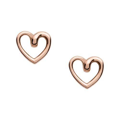 Rose Gold-Tone Stainless Steel Stud Earrings JOF00609791