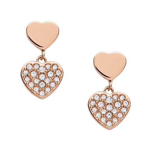 Rose Gold-Tone Stainless Steel Drop Earrings JOF00611791