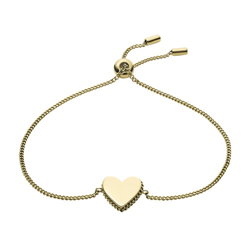 Fossil Gold-Tone Stainless Steel Chain Bracelet  jewelry GOLD