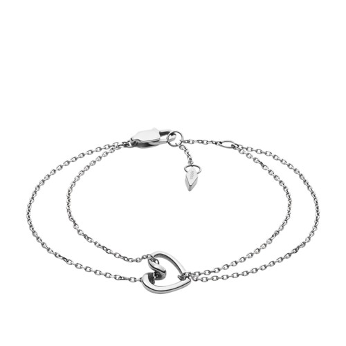 Fossil Stainless Steel Chain Bracelet  jewelry SILVER