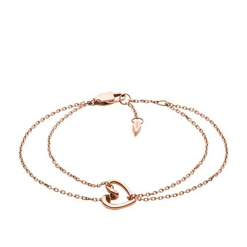 Rose Gold-Tone Stainless Steel Chain Bracelet JOF00616791