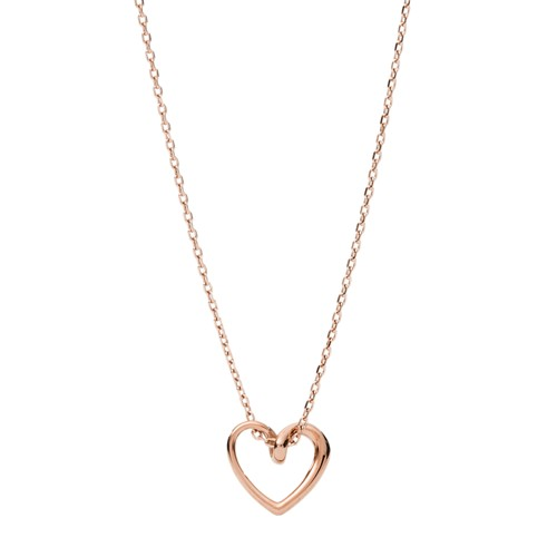 Rose Gold-Tone Stainless Steel Pendant Necklace JOF00620791
