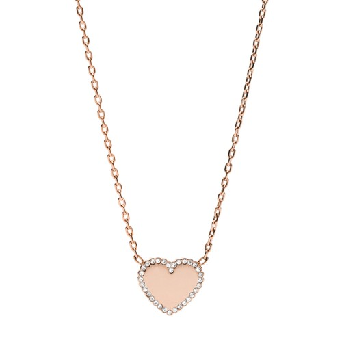 Rose Gold-Tone Stainless Steel Pendant Necklace JOF00622791