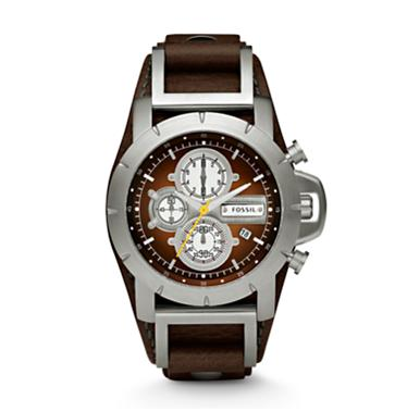 Fossil JR1157, Chronograph Brown Dial