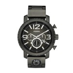 Gage Plated Stainless Steel Watch - Smoke Gray, Fashionable Men's Casual Watches Fossil Discount JR1252