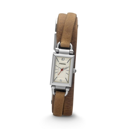 Fossil Delaney Three Hand Leather Watch - Tan - JR1324
