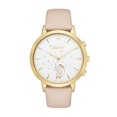 Kate-Spade-New-York Kate Spade New York Gold-Tone Metro Grand Hybrid Smartwa..