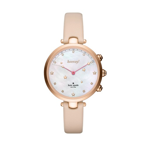 Kate-Spade Kate Spade New York Rose Gold-Tone And Vachetta Leather Holland H..
