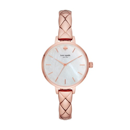 Kate-Spade Kate Spade New York Metro Three-Hand Rose Gold-Tone Stainless Ste..