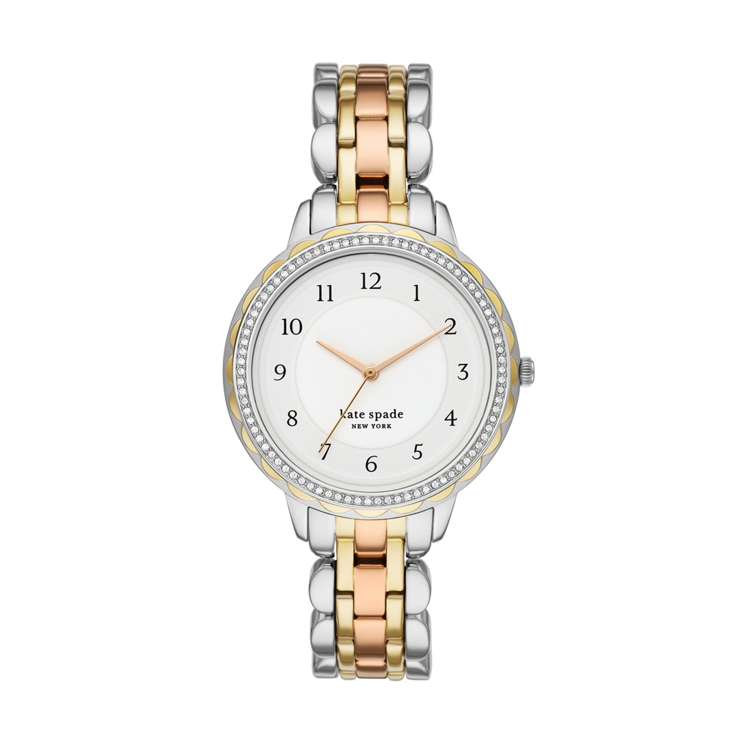 Kate Spade New York Kate Spade New York Morningside Three-Hand Tri-Tone Stainless Steel Watch Ksw1571 Jewelry - KSW1571-WSI