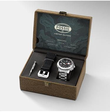 Fossil LE1001, Limited Edition - Analog Date Black Dial