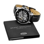 Limited Edition Grant Automatic Leather Watch - Black Black, Fashionable Men's Mechanical Watches Fossil Discount LE1017