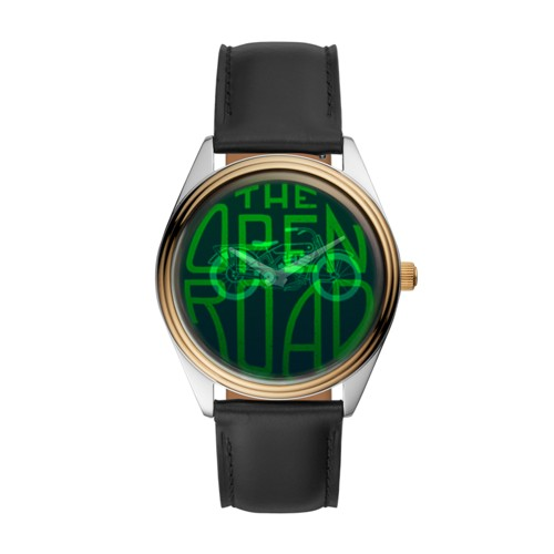 The Archival Series Hologram Black Leather Watch LE1054