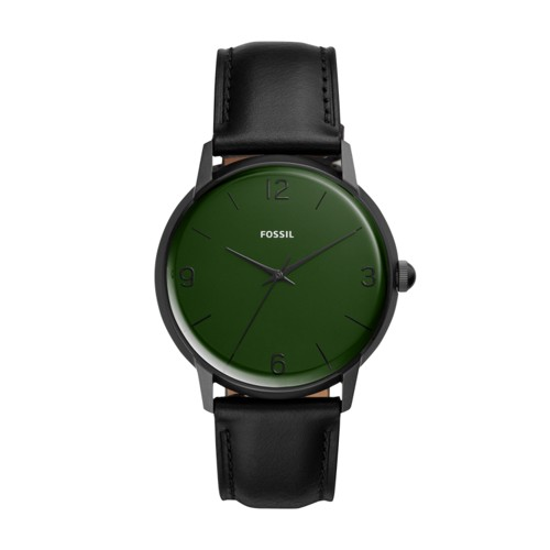 The Archival Series Mood Watch Three-Hand Black Leather Watch LE1065
