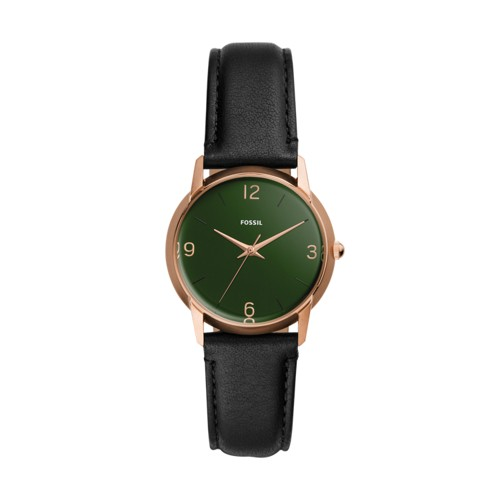 The Archival Series Mood Watch Three-Hand Black Leather Watch LE1066