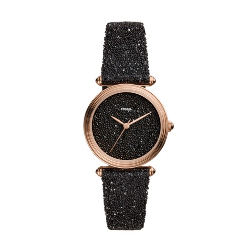 Limited Edition Lyric Three-Hand Black Fabric Watch LE1072