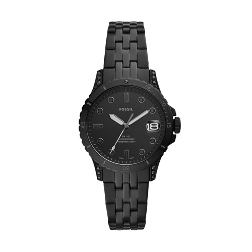 Limited Edition FB-01 Three-Hand Black Stainless Steel Watch LE1079