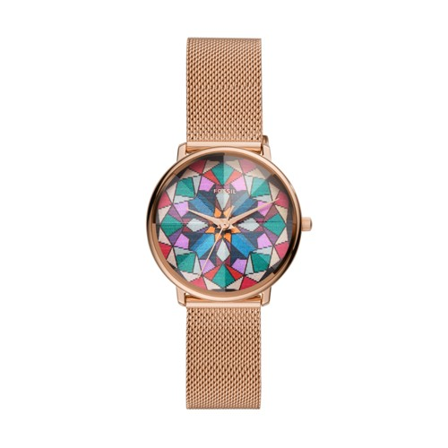 Limited Edition Prismatic Kaleido Three-Hand Rose Gold-Tone Stainless Steel Watch LE1091