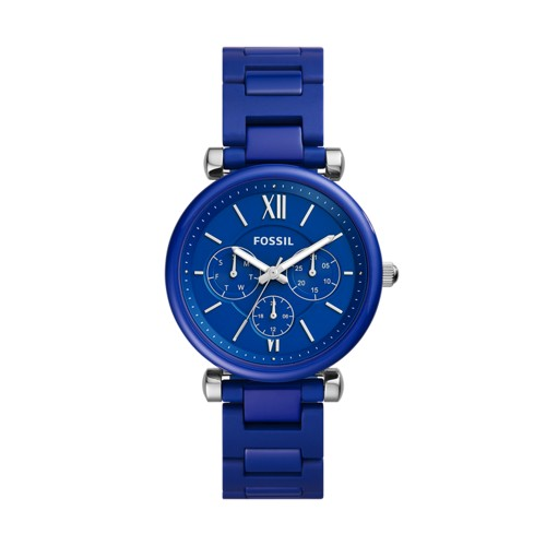 Limited Edition Carlie Multifunction Blue Ceramic Watch LE1097