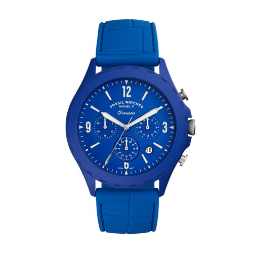 Forrester Archival Series Chronograph Blue Silicone Watch LE1098