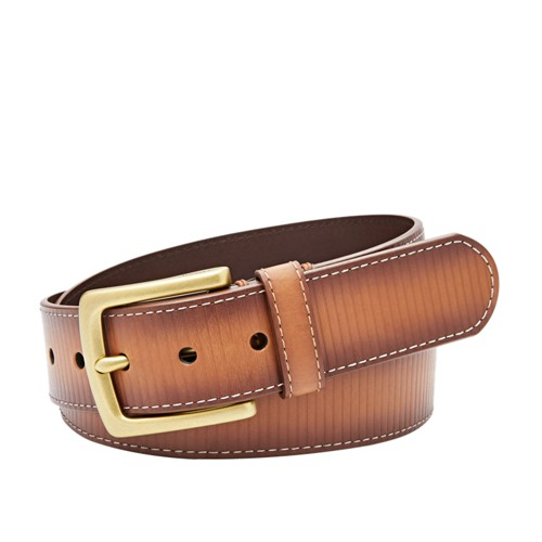 Fossil Remy Allover Embossed Belt Mb101622232 Color: Cognac
