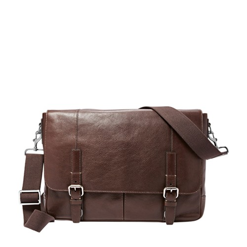 Fossil Graham Ew Messenger Mbg9224201 Color: Dark Brown