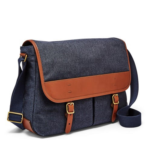 Fossil Buckner Messenger Mbg9354400 Color: Navy
