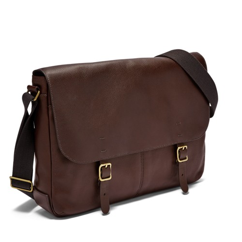 Fossil Buckner Messenger Mbg9373201 Color: Dark Brown