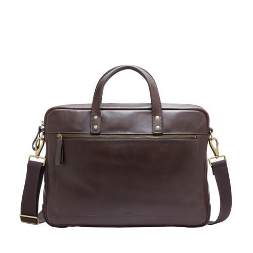 Fossil Haskell Brief Mbg9377201 Color: Dark Brown